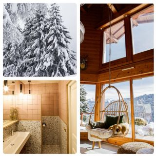 Who woudn't want  to relax in our Ogimi hangchair overlooking the winter wonderland from the beautiful chalet Le Roc Remi ?  From Le Porte du Soleil with ♥️